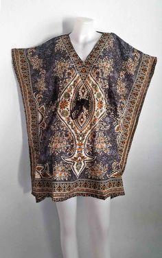 women's dress, poncho Kaftan Tunic, women fashion, gray dress, floral Vintage Beach Sundress, Dress Free Size