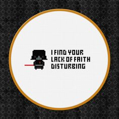 Picture of Darth Vader from Star Wars Cross Stitch Pattern Free Download