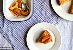 Pudding Lane: Olive oil polenta cake with peaches (dairy and GF)