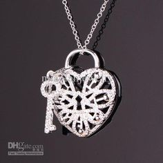 Wholesale Fashion Jewelry - Buy Heart Lock And Key Pendant Necklace 925 Sterling Silver Necklace 5pcs P779, $2.75 | DHgate