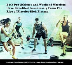 Both pro-athletes and weekend warriors have benefited from the rise of platelet-rich plasma therapy. Platelet Rich Plasma Therapy, Ligament Injury, Knee Pain Relief, Stem Cell Therapy, Regenerative Medicine, Stem Cells, Arthritis, New Jersey