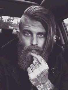 Hair beard tattoo black blonde