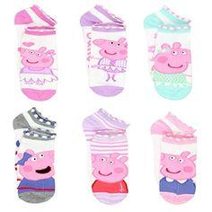 Peppa Pig Little Girls 6 pack Socks Pig Girl, Girls Socks, Cute Baby Clothes, Toddler Shoes, 6 Packs, Peppa Pig, Teen Fashion, Cute Babies, Little Girls
