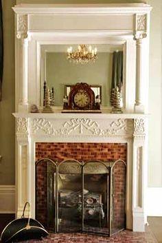 I like the ornate clock on the mantel.