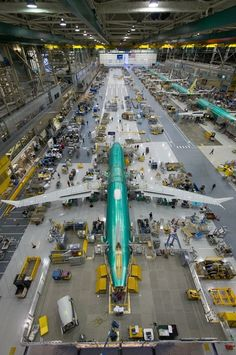 The first 737 MAX in the first position on the newly completed production line