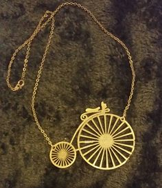 Penny Farthing, Elephant, Owl, Gold Necklace, Facebook, Gifts, Jewelry, Presents, Jewellery Making