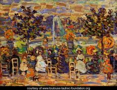 In Luxembourg Gardens 1907 - Henri De Toulouse-Lautrec - www.toulouse-lautrec-foundation.org