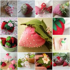 Inspiration for strawberry Pincushion Swap