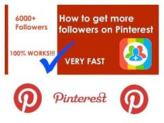 How to get Pinterest Followers NOW - YouTube
