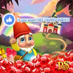 Do you want some free CHIPPED RUBIES?  Then hit LIKE if your answer is YES!   If there are more than 3000 LIKES from all versions tomorrow King Jarvis will send everyone 1 CHIPPED RUBY tomorrow! If there are more than 4000 LIKES from all versions tomorrow King Jarvis will send everyone 2 CHIPPED RUBIES tomorrow! If there are more than 5000 LIKES from all versions tomorrow King Jarvis will send everyone 3 CHIPPED RUBIES tomorrow!   If there are more than 10000 LIKES from all versions tomorrow…