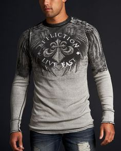 Affliction: Temper Rev Thermal - Pretty cool thermal, i'm liking the color gradient/drop off