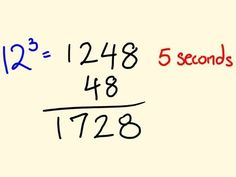 Cool math trick - work out cubic numbers fast!