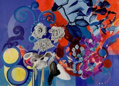 "Saatchi Art Artist Irina Rosenfeldt; Painting, ""HARDOY´S BLUES"" #art"