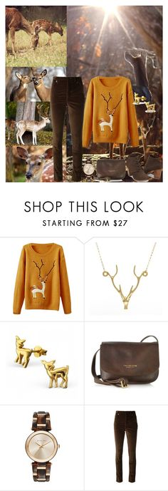 """""""Deer In The Forest"""" by horcal ❤ liked on Polyvore featuring Lee Renee, The Bridge, Michael Kors, Isabel Marant and TOMS"""