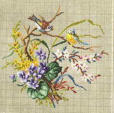 Cross Stitch Bird, Cross Stitch Borders, Cross Stitch Samplers, Cross Stitch Flowers, Cross Stitch Charts, Cross Stitching, Cross Stitch Embroidery, Cross Stitch Patterns, Needlepoint Patterns