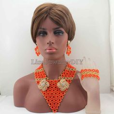 ==> [Free Shipping] Buy Best African New Mix Costume Bridal Indian Jewelry Set Women Fashion Jewellery Trends Traditonal Wedding Beads Free Shipping HD8232 Online with LOWEST Price | 32694290509
