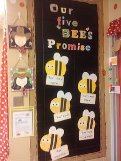 Make big bees for displaying expectations around the room.