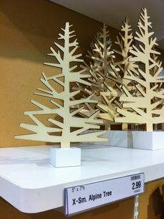 Laser Cut Christmas Trees and Sunglasses - Ponoko Ponoko