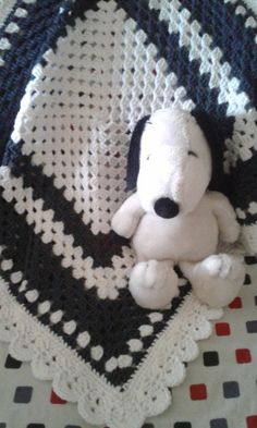 Crochet Baby Blanket Granny Square Blanket by BabyLandCrochet