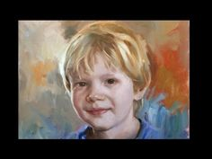 Painting a child in 6 steps. Oil painting. - YouTube