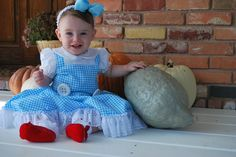Baby girl Dorothy Halloween Costume. Audrey would look perfect in this <3