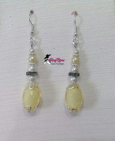 Orecchini pendenti con pietre gialle, by Roxy Bijoux, 3,50 € su misshobby.com