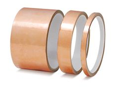 Buy your adhesive copper foil tape for pendent necklaces @ guitar centers. Dirt cheap. Check@ stewmac.com for conductive copper tape.