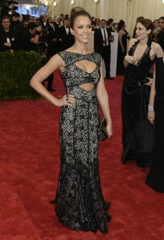 Jessica Alba in Tory Burch at the Met Gala