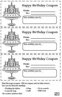 kitchen collection coupons printable blank birthday coupons to print printable coupons perfect for mother s day and birthdays 9161