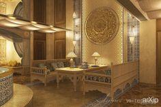 Дизайн интерьера в восточном стиле: интерьер, восточный, марокканский стиль, баня, сауна, хамам, салон красоты, спа, парикмахерская, 50 - 80 м2 #interiordesign #moroccan #bath #sauna #hammam #beautysalon #spa #hairsalon #50_80m2 arXip.com