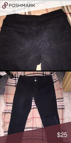 American Eagle Black Jeggings size 6 American Eagle black Jeggings size 6 American Eagle Outfitters Jeans Skinny