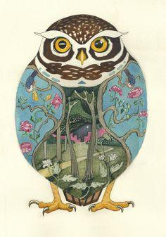 Daniel Mackie   Art Deco and Ukiyo e Influenced Animal Illustration inspiration