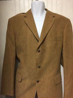 GEOFFREY BEENE MENS SOLID BEIGE THREE BUTTON CLASSIC FIT SPORTS COAT JACKET 42R  | eBay