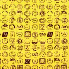 Stamps Cotton Yellow 112cm