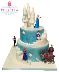 Frozen birthday cake fearing Elsa Ana something a bit different