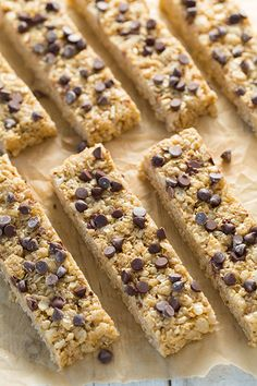 Microwave Chewy Chocolate Chip Granola Bars - Cooking Classy