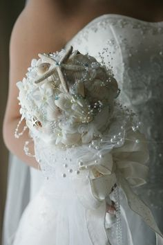 Love this Ariel Style - The Little Mermaid Theme Bridal Bouquet.