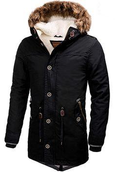 e2ac3bcc8641 Indicode Homme Parka Blouson veste d hiver avec capuche Polar  Amazon.fr  Vêtements  et accessoires