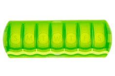 SURVIVE Vitamins 7 Day Pill Organizer Plastic Pill Box Translucent Lime Color 1 Piece Of This Pill Case Your Search For The Most Efficient Pill Organizer Has Successfully Come To End!