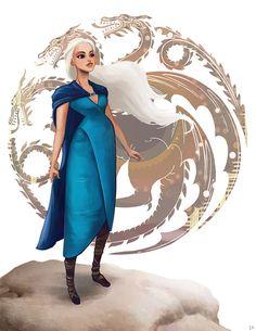 12 dibujos de las mujeres de Game of Thrones