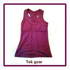 TEK GEAR -  TOP W/back pocket TEK GEAR - RUNNING TOP   Built in bra lining (not padding)   Has small back pocket   Size Small Tek Gear Tops