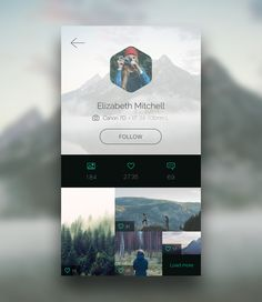 Photo App: Profile Page [.sketch] on Behance