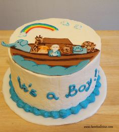 noah's ark baby shower | Noah's Ark Cake for a Baby Shower | Twee-tea-licious