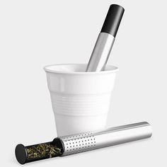 We love this sleek and modern tea infuser from the MoMA Store.