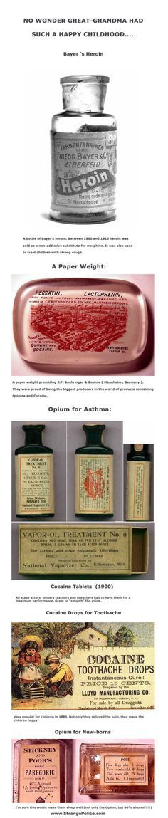 WHY GREAT GRANDMA HAD SUCH A HAPPY CHILDHOOD! - COCAINE LACED MEDICINE!