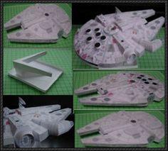 Star Wars - Millenium Falcon Free Papercraft Download - http://www.papercraftsquare.com/star-wars-millenium-falcon-free-papercraft-download.html