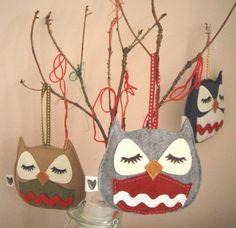 Owl Felt Ornament