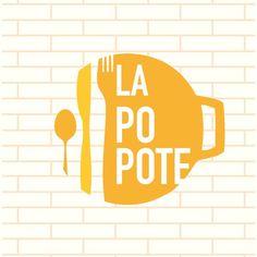 Cerise Charlet Logo design www. - Cerise Charlet Logo design www. Restaurant Logo Design, Food Logo Design, Logo Food, Logos 3d, Retro Logos, Logo Branding, Branding Design, Corporate Design, Kitchen Logo
