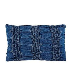 Studio D Trista Ruched Denim Breakfast PIllow #Dillards