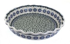 Maia Pie Plate - Blue Rose Polish Pottery